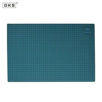 GKS PVC A3 Cutting Mat Manual DIY Tool Cutting Board Double-sidedSelf-healing Cutting Pad 5cm and 1cm Grids Patchwork Tools 30cm *45cm * 3mm Green - intl - 2