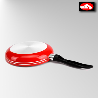Glass Tempered Aluminum Coated Non-Stick 22 cm Frying Pan Concord(Black/Red)