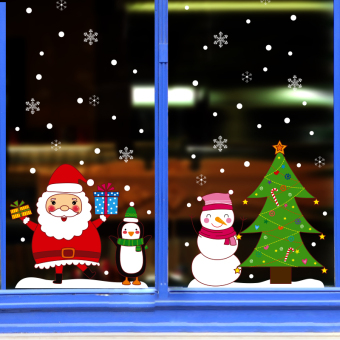 Glass window shopping shop adhesive paper door stickers