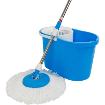 GMY 360 Degree Spin Mop and Spin Dry Bucket (Blue) - 4