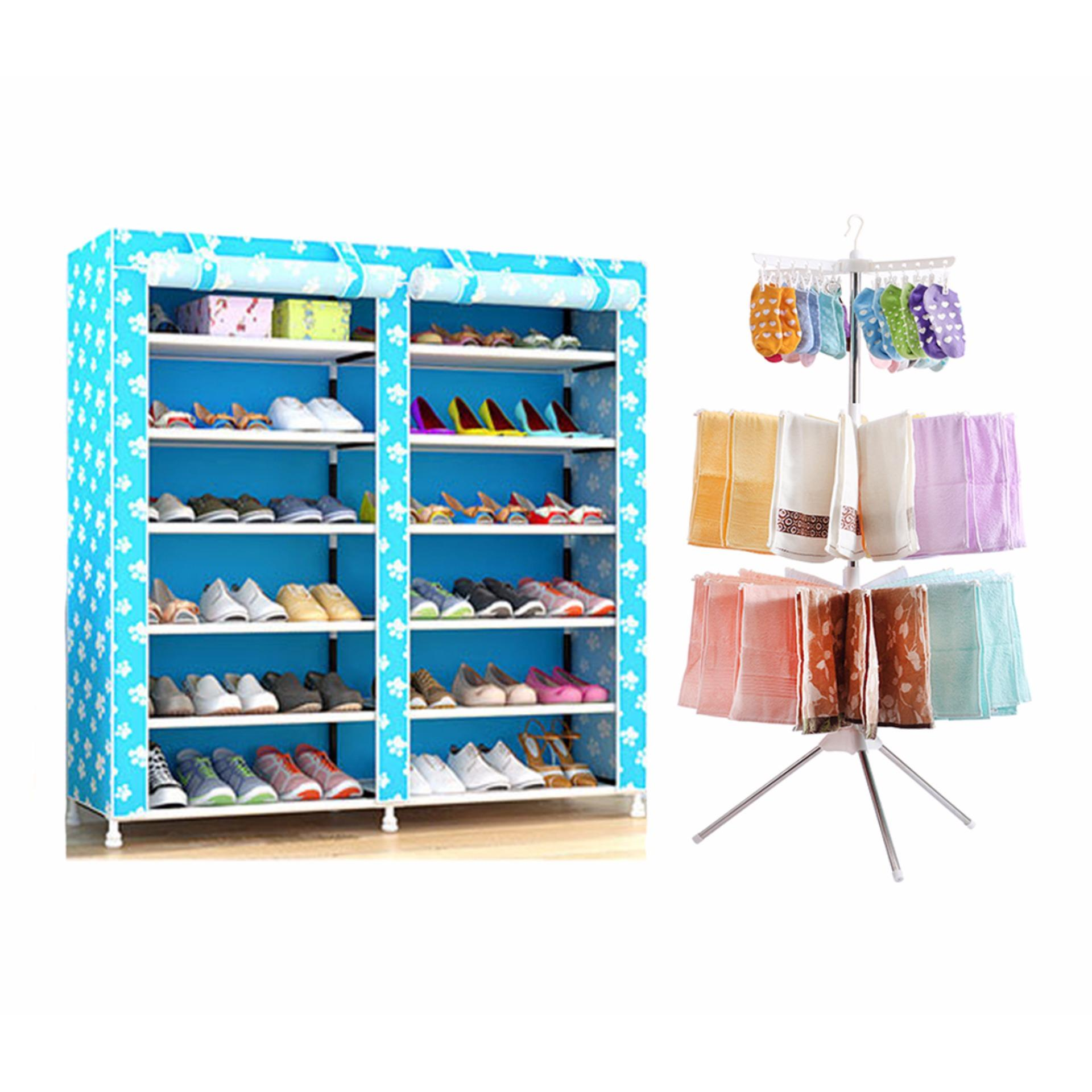 Philippines | GMY 6-Tier Double cabinet Shoe Rack Storage Cabinet ...