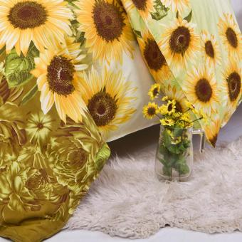 GoGoLife Cotton Home Quilt Cover Single/Full/Queen/King size-28#Sunflower - 3