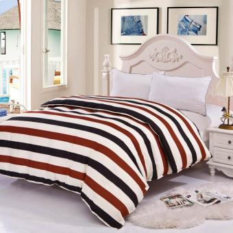 GoGoLife Cotton Modern Quilt Cover All Size-15# White Stripe