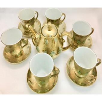 GOLD PLATED TEA CUP SET - 3