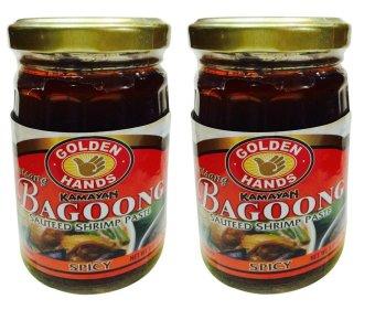 Golden Hands Kamayan Sauteed Shrimp Paste Extra Hot Bagoong 250 grams Set of 2