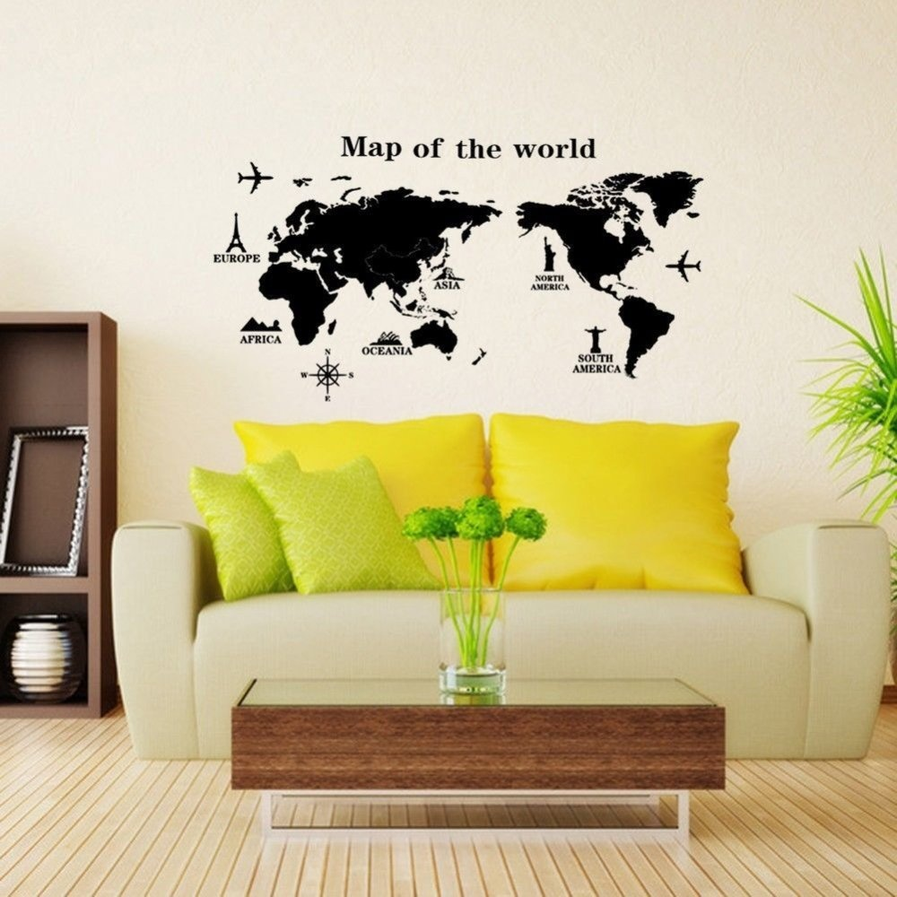 Philippines | Gosport World Map Removable PVC Vinyl Art Room Wall ...