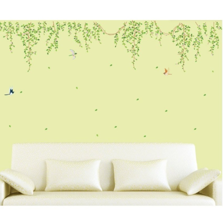 Philippines | Green Leaves Bird Wall Decal PVC Home Sticker House ...