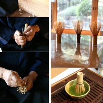 Green Tea Chasen Brush Tool Grinder Brushes Japanese CeremonyBamboo 64 Matcha Powder Whisk Brand Kitchen - intl - 3
