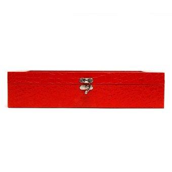 Handicraft 12-Compartment Watchbox (Red)