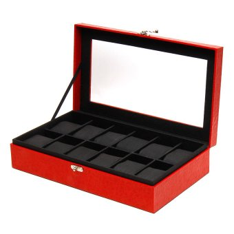 Handicraft 12-Compartment Watchbox (Red) - picture 2