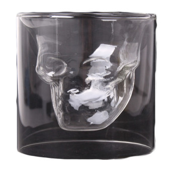 Hang-Qiao Durable Double Whisky Wine Shot Glass (Clear)