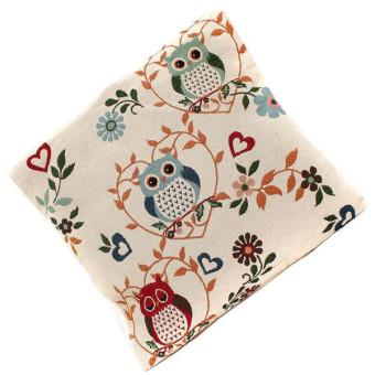 HANG-QIAO Owl Pattern Mat Pillow Case (Multicolor)