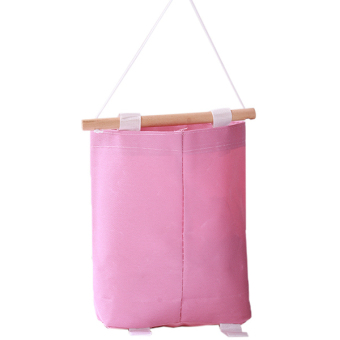 Hang-Qiao Oxford Storage Bag Clothes Hanging Bags Pink