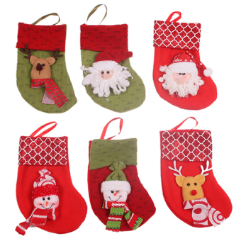 Hanyu Christmas Sock Party Decoration Sock #4 Red - picture 2