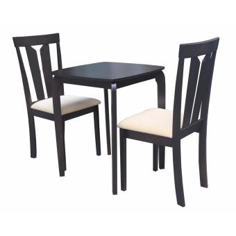 Hapihomes Amaya 2-Seater All Wood Dining Set (black) Price Philippines