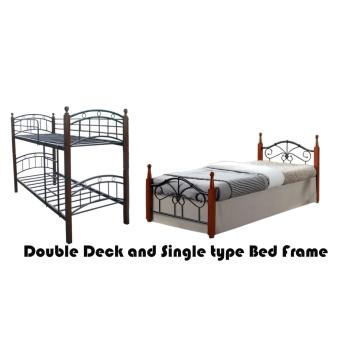 Hapihomes Android Double Deck Bed with Miami (Single)36'x75' BedFrame Black/Brown Price Philippines