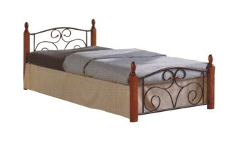 "Hapihomes DUSIT Bed Frame ""60 x 75"" (Black/Brown) Price Philippines"