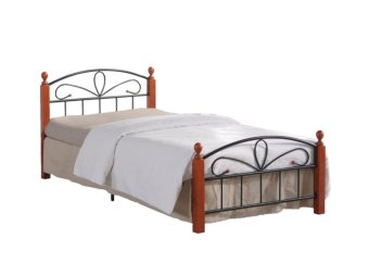 "Hapihomes Hilton Bed Frame ""48x 75"" (Black/Brown) Price Philippines"