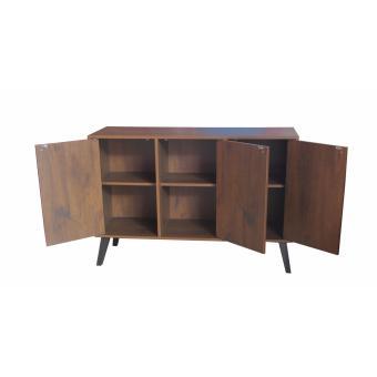 Hapihomes Jam 3-door Storage Cabinet (Walnut) - 2
