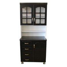 Perfect Hapihomes Morris Kitchen Cabinet (Black/White)