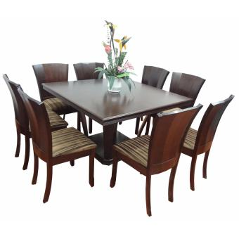 Hapihomes Shakespear Olive 8-Seater Square Dining Set Price Philippines