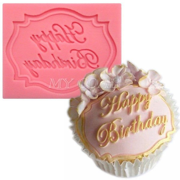 ... Happy Birthday Silicone Fondant Mould Cake Lace Mat Baking Pastry Mold Decor ...
