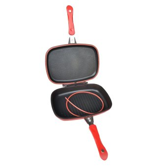 Happy Cook Aluminum Double-Sided Grill Pan 32cm (Red) - picture 2