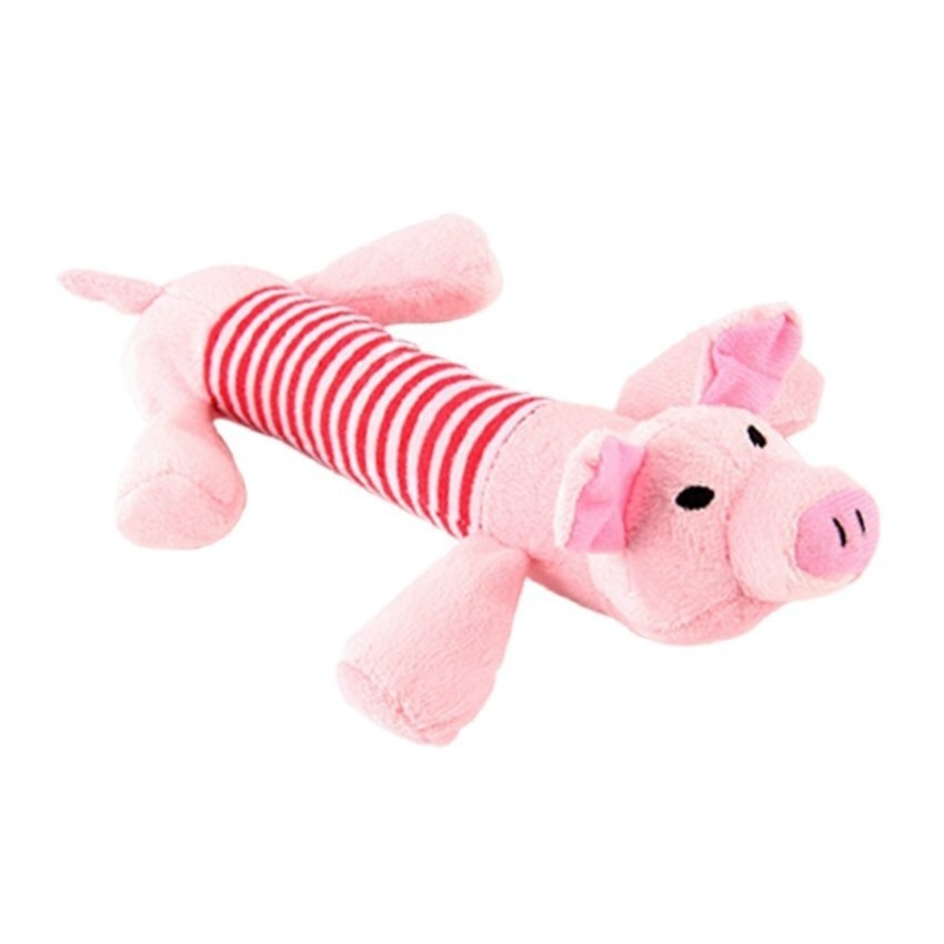 ... HDL Pet Puppy Chew Squeaker Squeaky Plush Sound Ball for Dog-pig -intl ...