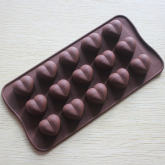 Heart-shaped handmade soap silicone cake chocolate Mold