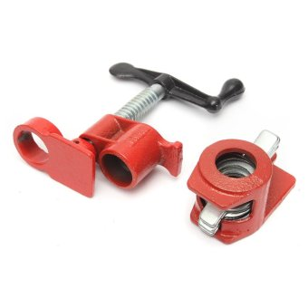 Heavy Duty 3/4''Wood Gluing Pipe Clamp Set Kit ProfesionalWoodworking Cast Iron - intl - 3