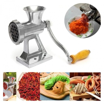 Heavy Duty Hand Operated Meat Grinder Beef Noodle Pasta SausagesMaker (Silver) - intl