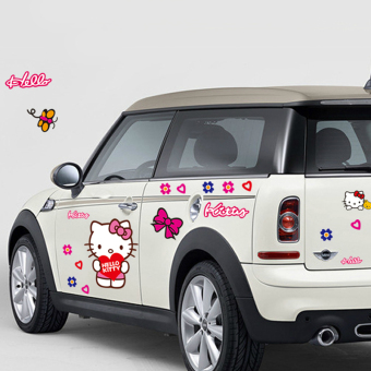Hello Kitty cute adhesive paper car stickers children's room wall