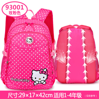 Hello Kitty young student's girls burden relieving backpack children's school bag