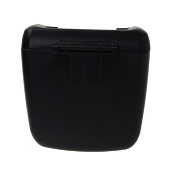 HengSong Car Dustbin Rubbish Trash Can Garbage Box Case Bins Black - picture 2