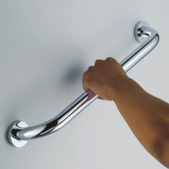 Hequ Hot Sale Newest 25cm Stainless Steel BATH SHOWER SUPPORT RAIL Accessibility AID GRAB BAR HANDLE Silver - intl - 2