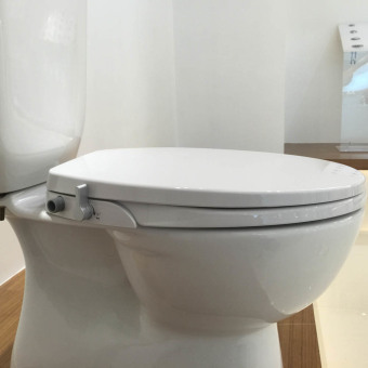 Hibbent Non Electric Bidet Toilet Seat With Cover   American Round Style Toilet  Bidet Seat For