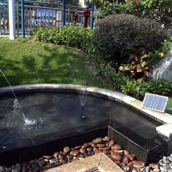 High-power Solar Landscape Fountain 17V 10W Equipment Solar WaterPump Garden Fountains Decorative Fountain (Intl) - 3