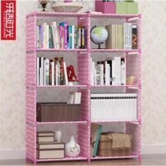 High Quality 10 Tube Book Shelf Pink