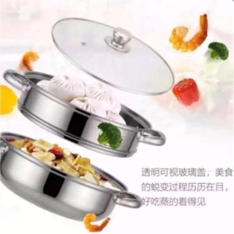 High Quality 28cm Stainless Steel Steaming Pot Ware - 2