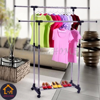 High Quality Double-Pole Clothes Rack (Scalable)