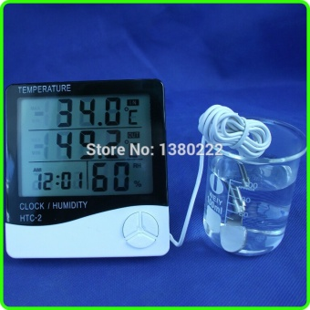 high quality LCD Digital Thermometer Hygrometer with Temperature and humidity Dual Sensors show indoor outdoor in same time - intl - 2