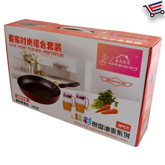 High Quality Non Stick Frying Pan with 2 Piece Oil Pot - 3