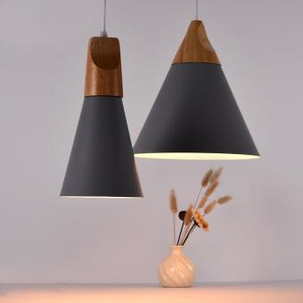 High Quality Store New E27 Simple Wood Pendant Ceiling Hanging Lamp Chandelier Kitchen Light Fixture S Black