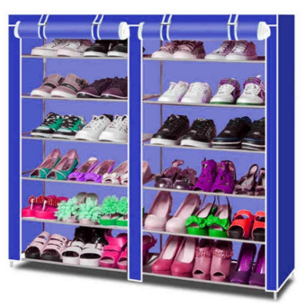 High Quality T-2712 Double Capacity 6 Layer Shoe Rack Shoe Cabinet(Navyblue) Price Philippines