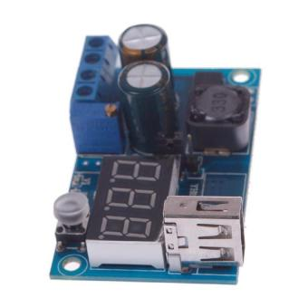 HKS BUYINCOINS DC-DC LM2596 Power Supply Adjustable Converter Step-Down Module LED Strip Voltmeter (Blue) (Intl) - picture 2