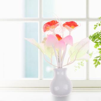 HKS Romantic Lilac Orange Sensor LED Mushroom Night Light Wall Lamp Home Decor (Intl) - picture 2