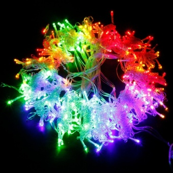 Holiday lights 300leds Curtain LED String Lights New Year Christmas decoration 220V EU plug Garlands Fairy Party Garden Wedding High Quality XR - intl - 2