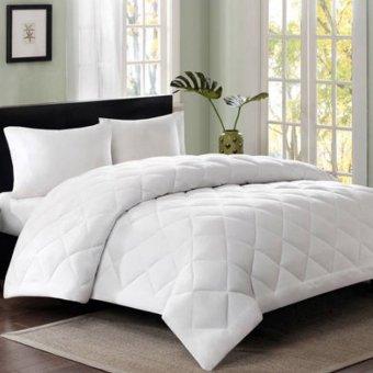 Home Bedding Fiber Fill Comforter Blanket White Quilt Duvet Insert