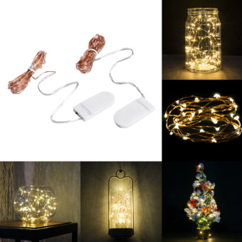 Home Decoration Lamp 30 LEDs Copper Wire String Lights for Christmas Wedding Party (Intl)