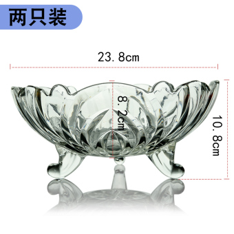 Home European dried fruit bowl glass fruit bowl